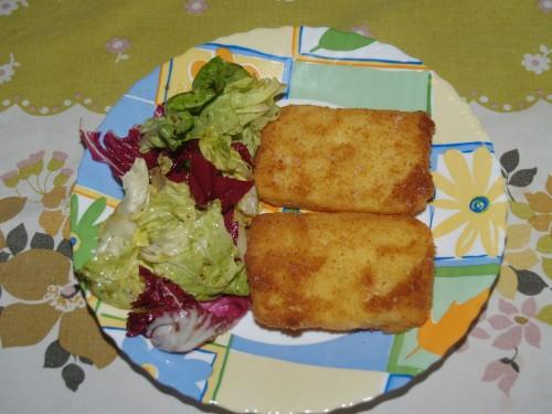 ricette,cotolette,pesce,platessa,polenta,mortadella,uova,farina,pangrattato