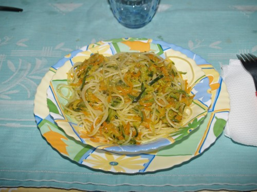 ricette,primi piatti,vermicelli,verdure,julienne